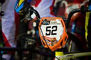 #52 (HLADIKOVA Aneta) CZE at the 2014 UCI BMX Supercross World Cup in Manchester.