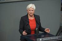 17 FEB 2016, BERLIN/GERMANY:<br /> Gerda Hasselfeldt, CSU, Vorsitzende der Landesgruppe, haelt eien Rede, wahrend der Debatte zur Regierunsgerklaerung der Bundeskanzlerin zum Europaeischen Rat, Plenum, Deutscher Bundestag<br /> IMAGE: 20160217-03-057