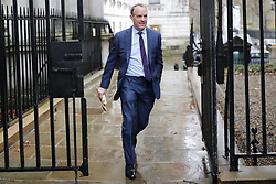 © Licensed to London News Pictures. 17/12/2019. London, UK. Foreign Secretary Dominic Raab arrives for the first meeting of the cabinet after the Conservatives won a majority in the 2019 General Election. Photo credit: Rob Pinney/LNP