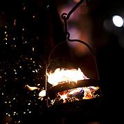 Fogaréus: the metal burning baskets.