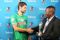 23102018 (Durban) Amazulu players Marc Van Heerden recieved a man of the match award during the first round of the Telkom Knockout concluded on Tuesday night when Amazulu walloped the MTN8 Cup winners Cape Town City  2-0 at the King Zwelithini stadium, Durban. Amazulu making their way to the quarter finals were they would be playing against Orlando Pirates at the same venue.<br /> Picture: Motshwari Mofokeng/African News Agency (ANA)