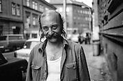 Portrait of a Zizkov resident in Borivojova street.