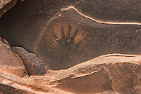 Anasazi handprints on ceiling of ruins, Road Canyon of Grand Gulch Primitive Area, Cedar Mesa Utah Bears Ears National Monument