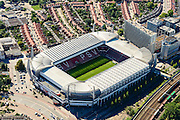 Nederland, Noord-Brabant, Eindhoven, 23-08-2016; stadsdeel Strijp. Philips Stadion van PSV en Philipsdorp.<br /> Philips PSV Stadium with Philips village.<br /> luchtfoto (toeslag op standard tarieven);<br /> aerial photo (additional fee required);<br /> copyright foto/photo Siebe Swart
