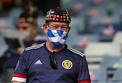 A Scotland fan ahead of the UEFA Euro 2020 Group D match at Hampden Park, Glasgow. Picture date: Monday June 14, 2021.