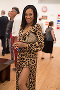 KARIS ANDERSON, Private view for the Art of Campari, The Estorick Collection,  Islington. London. 3 July 2018