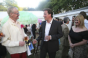 Stuart Wheeler and David Cameron, Conservative Party, Summer party, Royal Hospital Chelsea, Royal Hospital Road, London, SW3,3 July 2006. ONE TIME USE ONLY - DO NOT ARCHIVE  © Copyright Photograph by Dafydd Jones 66 Stockwell Park Rd. London SW9 0DA Tel 020 7733 0108 www.dafjones.com
