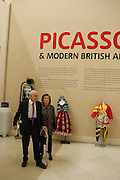 MANFRED GORVY; LYDIA GORVY, Picasso and Modern British Art, Tate Gallery. Millbank. 13 February 2012