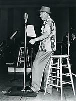 1938 Bing Crosby at NBC Radio City