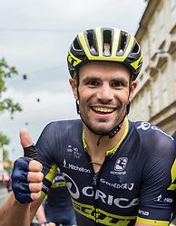 Winner Luka Mezgec (SLO) of Orica - Scott celebrates after  the Stage 2 of 24th Tour of Slovenia 2017 / Tour de Slovenie from Ljubljana to Ljubljana (169,9 km) cycling race on June 16, 2017 in Slovenia. Photo by Vid Ponikvar / Sportida