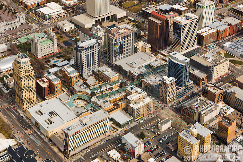The new City Creek Center in downtown Salt Lake City