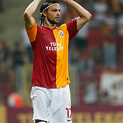 Galatasaray's Tomas UJFALUSI during their Friendly soccer match Galatasaray between Liverpool at the TT Arena at Arslantepe in Istanbul Turkey on Saturday 28 July 2011. Photo by TURKPIX