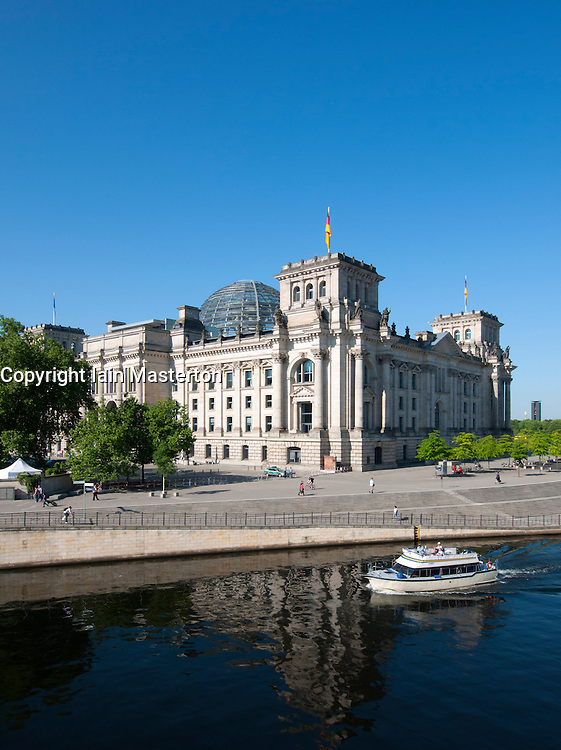 Exterior of Reichstag government building in Mitte Berlin Germany