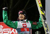 Hopp<br /> FIS World Cup<br /> Bischofshofen Østerrike<br /> 06.01.2013<br /> Foto: Gepa/Digitalsport<br /> NORWAY ONLY<br /> <br /> FIS Weltcup der Herren, Vierschanzen-Tournee, Siegerehrung. Bild zeigt den Jubel von Tom Hilde (NOR).