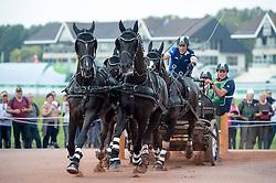 Benjamin Aillaud, (FRA), Bartok, Bicker T, Bly Plains, Colin, Conkalina - Driving Marathon - Alltech FEI World Equestrian Games™ 2014 - Normandy, France.<br /> © Hippo Foto Team - Becky Stroud<br /> 06/09/2014