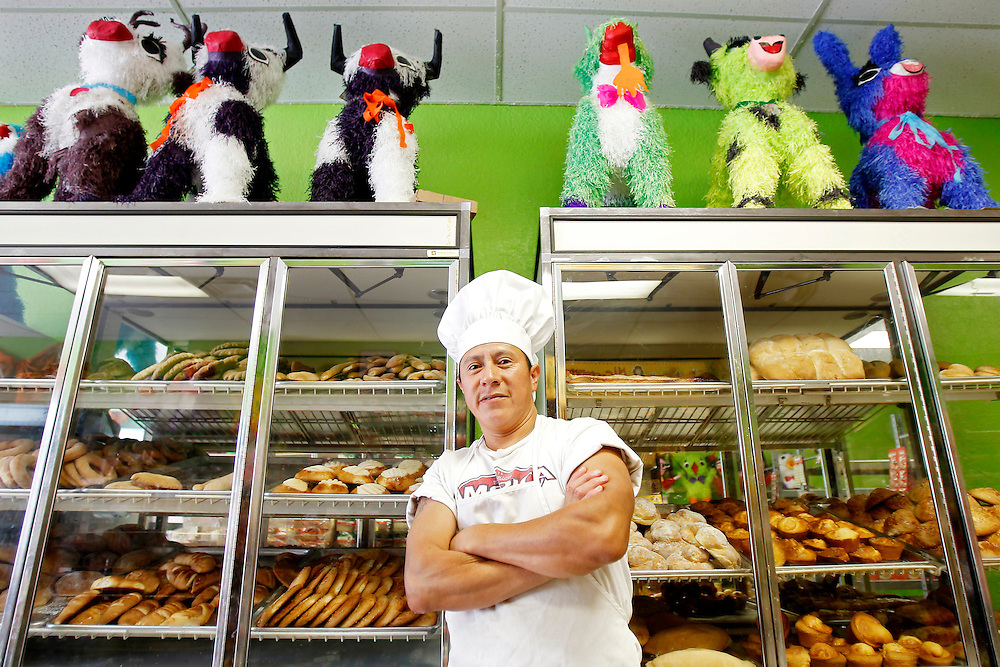 Juan Garcia, owner of El Queizal bakery on 384 N. Walnut Street in Grand Island. (Independent/Matt Dixon)