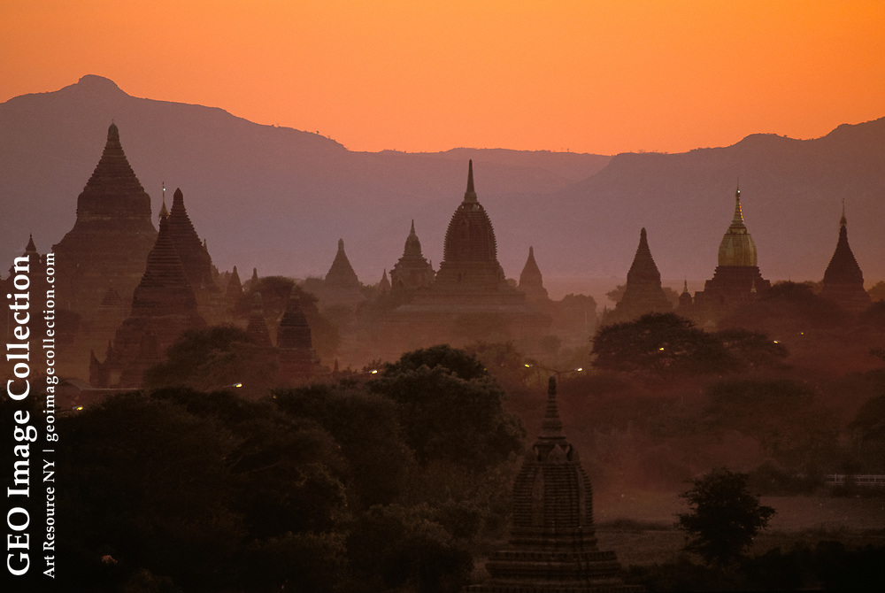 """Bagan is also called """"Valley of the Thousand Temples,"""" built in the Middle Ages there were 13,000 stupas. Myanmar"""