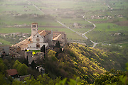 View of Basilica di San Francisco de Assisi (Church of St. Francis) from Rocca Maggiore, Assisi, Umbria, Italy.
