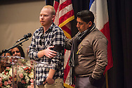 Nohemi's family.<br /> Vigil for Cal State University of Long Beach student Nohemi Gonzalez who was killed in the Paris terror attack on 11/13/15. Her fellow students, school faculty, and family attended the vigil held at CSULB.