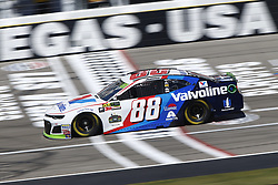September 14, 2018 - Las Vegas, Nevada, United States of America - Alex Bowman (88) brings his race car down the front stretch during practice for the South Point 400 at Las Vegas Motor Speedway in Las Vegas, Nevada. (Credit Image: © Chris Owens Asp Inc/ASP via ZUMA Wire)