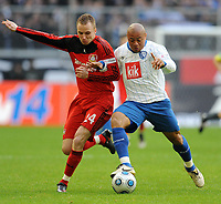 Fotball<br /> Tyskland<br /> Foto: Witters/Digitalsport<br /> NORWAY ONLY<br /> <br /> 08.03.2009<br /> <br /> v.l. Michal Kadlec, Joel Epalle Bochum<br /> Bundesliga Bayer 04 Leverkusen - VfL Bochum