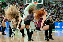 Cheerleaders Dragon Ladies during final match of Basketball NLB League at Final Four tournament between KK Union Olimpija (SLO) and Partizan Belgrade (SRB), on April 21, 2011 at SRC Stozice, Ljubljana, Slovenia. (Photo By Matic Klansek Velej / Sportida.com)