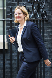 Downing Street, London, September 9th 2016.  Home Secretary Amber Rudd leaves 10 Downing Street following the weekly cabinet meeting.