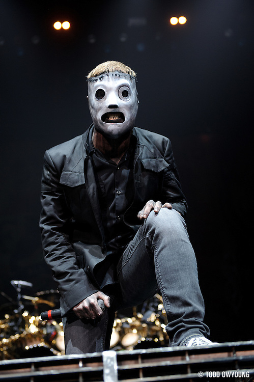 Slipknot performing at the Scottrade Center in St. Louis on May 6, 2009.