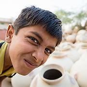 Cheeky Indian boy in village of Chandelao, Rajasthan