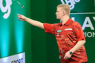 Mike De Decker during the PDC Darts Players Championship at  at Butlins Minehead, Minehead, United Kingdom on 24 November 2017. Photo by Shane Healey.