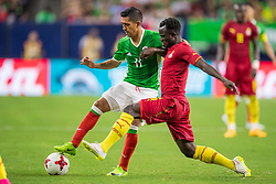 June 28, 2017: Mexico midfielder Elias Hernandez (11) and Ghana midfielder Mohammed Abu (6) fight for the ball during the 2nd half of an international soccer friendly match between Mexico and Ghana at NRG Stadium in Houston, TX. Mexico won the game 1-0...Trask Smith/CSM(Credit Image: © Trask Smith/CSM via ZUMA Wire)