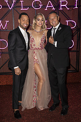 Jasmine Sanders, Terrence J , Jean Christophe Babin attend the Bvgalri Gala Dinner held at the Stadio dei Marmi in Rome, Italy on June 28, 2018. Photo by Marco Piovanotto/ABACAPRESS.COM
