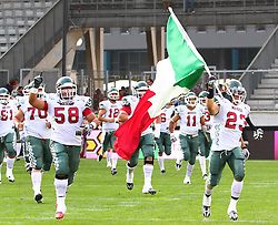 08.07.2011, Tivoli Stadion, Innsbruck, AUT, American Football WM 2011, Group A, Germany (GER) vs Mexico (MEX), im Bild Team Mexico enters the Field // during the American Football World Championship 2011 Group A game, Germany vs Mexico, at Tivoli Stadion, Innsbruck, 2011-07-08, EXPA Pictures © 2011, PhotoCredit: EXPA/ T. Haumer