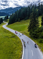 12.07.2019, Kitzbühel, AUT, Ö-Tour, Österreich Radrundfahrt, 6. Etappe, von Kitzbühel nach Kitzbüheler Horn (116,7 km), im Bild Feature, Landschaft, Tirol, Spitzengruppe bei der Huber Höhe // during 6th stage from Kitzbühel to Kitzbüheler Horn (116,7 km) of the 2019 Tour of Austria. Kitzbühel, Austria on 2019/07/12. EXPA Pictures © 2019, PhotoCredit: EXPA/ JFK