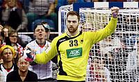 Håndball 31. januar 2016, EM , finale , herrer , Spania - Tyskland<br /> målvakt Andreas Wolff , Tyskland<br /> <br /> Norway only