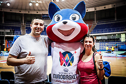 Mascot with fans after the basketball match between Women National teams of Italy and Slovenia in Group phase of Women's Eurobasket 2019, on June 30, 2019 in Sports Center Cair, Nis, Serbia. Photo by Vid Ponikvar / Sportida