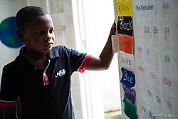 South America, Colombia, Cartagena, La Boquilla, English class by Fundacion Corajem and Domino Volunteers
