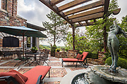 Patio space with fountain photo by Brandon Alms Photography