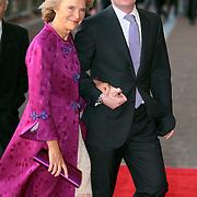 NLD/Amsterdam/20080201 - Verjaardagsfeest Koninging Beatrix en prinses Margriet, aankomst prinses Irene van Lippe Biesterfeld en zoon Carlos