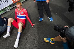 September 19, 2017 - Bergen, NORWAY - 170919 Andreas Leknessund of Norway in the finish area after the Men Junior Individual Time Trial on September 19, 2017 in Bergen..Photo: Jon Olav Nesvold / BILDBYRN / kod JE / 160021 (Credit Image: © Jon Olav Nesvold/Bildbyran via ZUMA Wire)