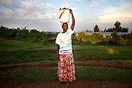Kenya, June 2009. Mount Elgon District. Village Life.
