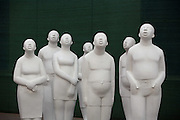 A series of sculptures on display at a gallery in Dashanzi art district in Beijing, China May 4, 2007.