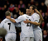 Photo: Jed Wee/Sportsbeat Images.<br />Doncaster Rovers v Bolton Wanderers. The FA Cup. 06/01/2007.<br /><br />Bolton celebrate with goalscorer Kevin Davies (R).
