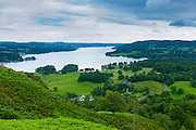 View of Lake Windermere in the Lake District National Park, Cumbria, UK