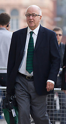 © Licensed to London News Pictures. 27/09/2013. London, UK. Former member of parliament Denis MacShane arrives at the Old Bailey in London today (27/09/2013). Formerly the MP for Rotherham, Mr MacShane is charged with false accounting after it was alleged he faked receipts. Photo credit: Matt Cetti-Roberts/LNP