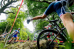 August 7, 2018 - Glasgow, UNITED KINGDOM - 180807 Athletes compete in the Women's Mountain Bike Cycling during the European Championships on August 7, 2018 in Glasgow..Photo: Jon Olav Nesvold / BILDBYRN / kod JE / 160288 (Credit Image: © Jon Olav Nesvold/Bildbyran via ZUMA Press)