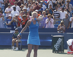 August 19, 2018 - Mason, Ohio - Kiki Bertens gets emotional after defeating Simona Halep in the finals of the Western and Southern Open at the Lindner Family Tennis Center in Mason, Ohio on Sunday, August 19, 2018.  Bertens won the match 2-6, 7-6, 6-2.  The Cincinnati Masters is an annual outdoor hardcourt tennis event held in Mason near Cincinnati, Ohio. The event started on September 18, 1899 and is the oldest tennis tournament in the United States played in its original city. (Credit Image: © Leigh Taylor via ZUMA Wire)