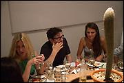 MARK WALLINGER; OLIVIA COLE, Matt's Gallery 35th birthday fundraising supper.  42-44 Copperfield Road, London E3 4RR. 12 June 2014.