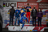 2021 UCI BMXSX World Cup<br /> Round 4 at Bogota (Colombia)<br /> Semis and Main<br /> ^we#100 PAJON, Mariana (COL, WE) GW, Nologo, 100%, Shimano, Red Bull, AnswerBMX<br /> ^me#33 DAUDET, Joris (FRA, ME) Shimano, Chase, FLY