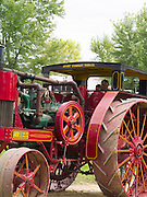 Close-up view of antique Avery steam tractor; Rock River Thresheree, Edgerton, WI; 2 Sept 2013